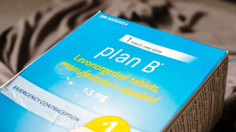 Plan B pill box