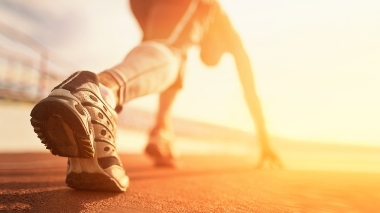 Close up of running shoe