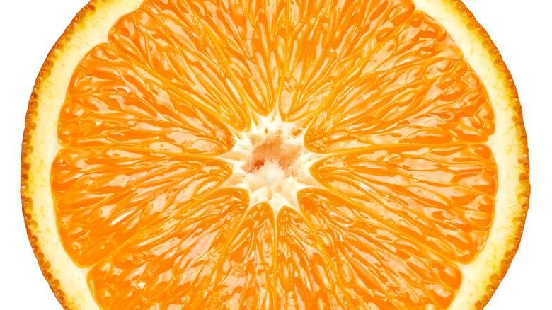 close up of an orange slice