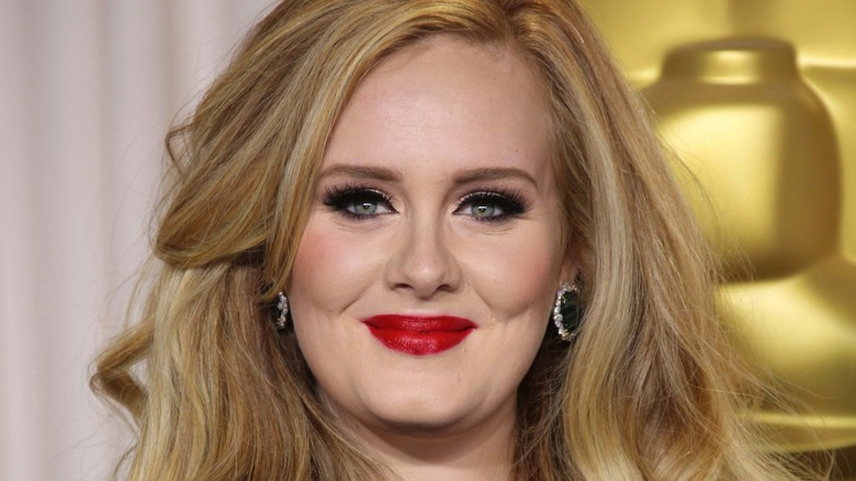 Adele on the red carpet, 2013