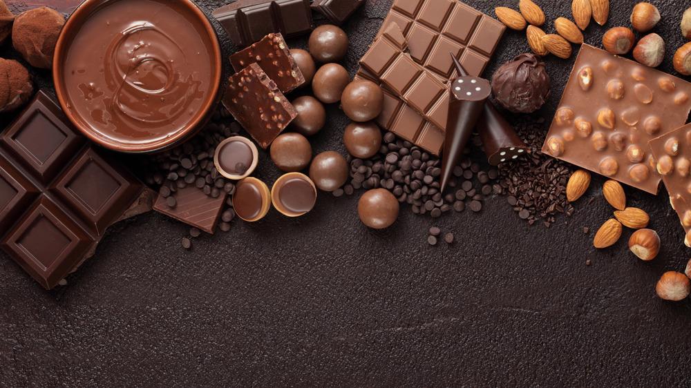 Closeup of lots of chocolate