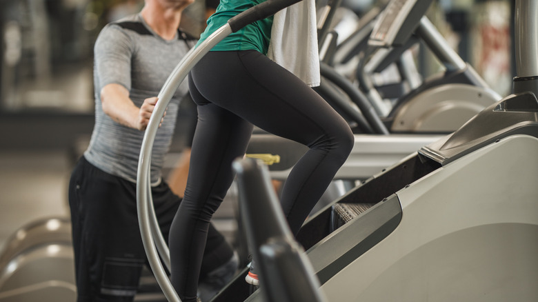 woman working out on a Stairmaster