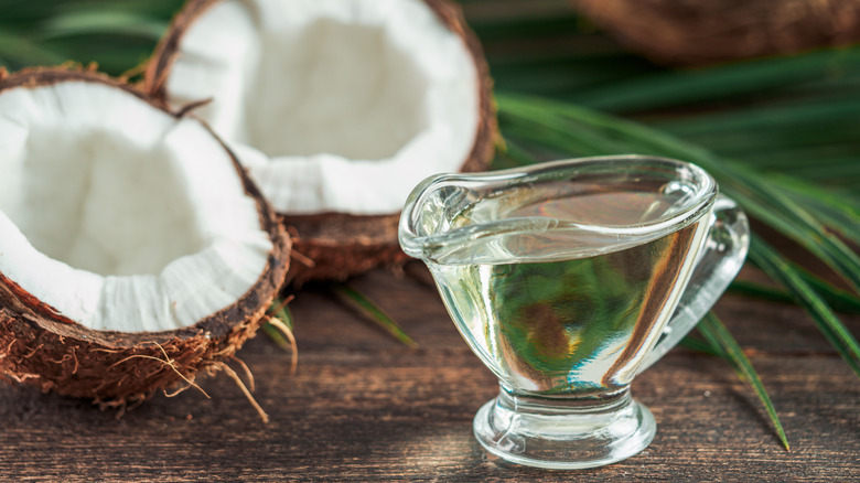 coconut next to MCT oil