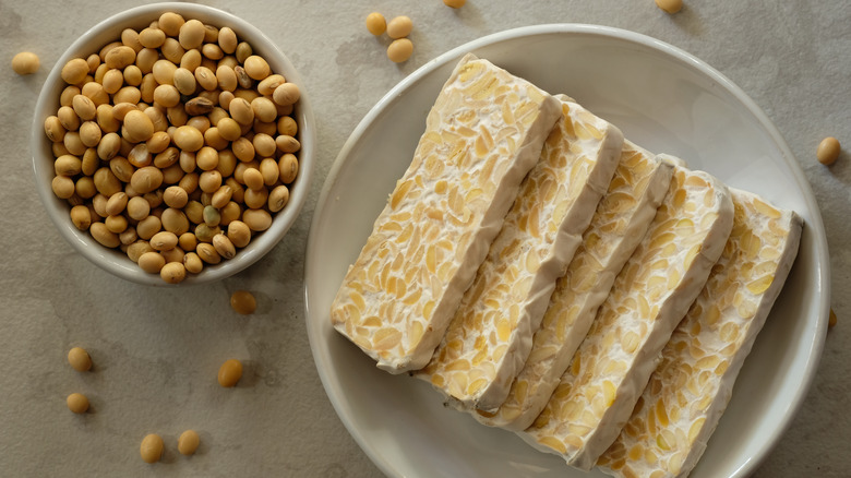 Tempeh and soybeans