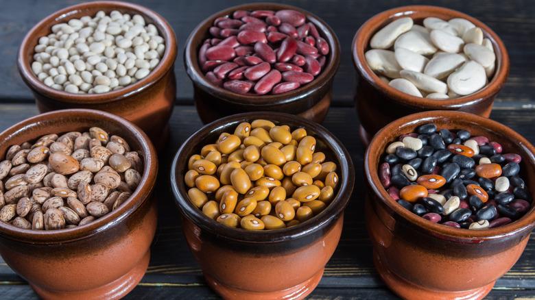 pots of beans