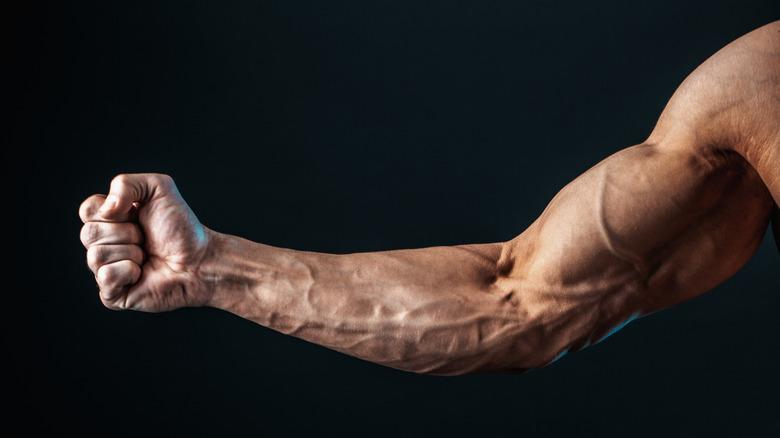 vascular arm post-workout