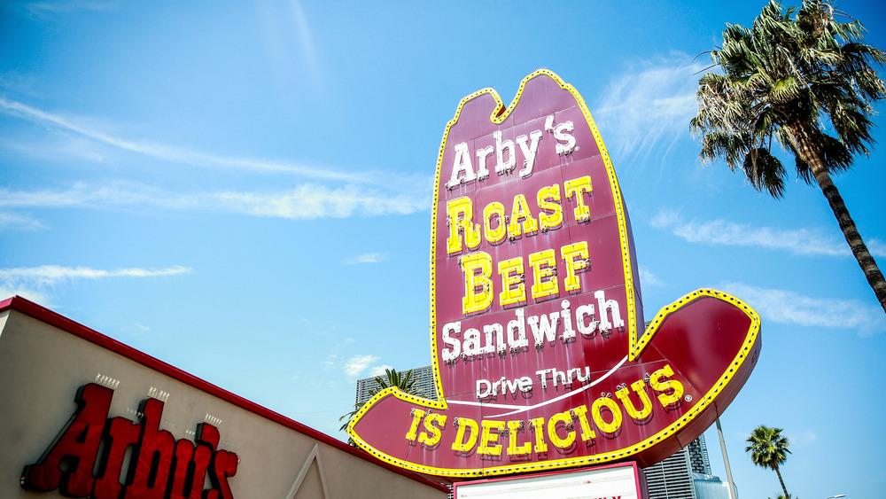 An Arby's restaurant sign