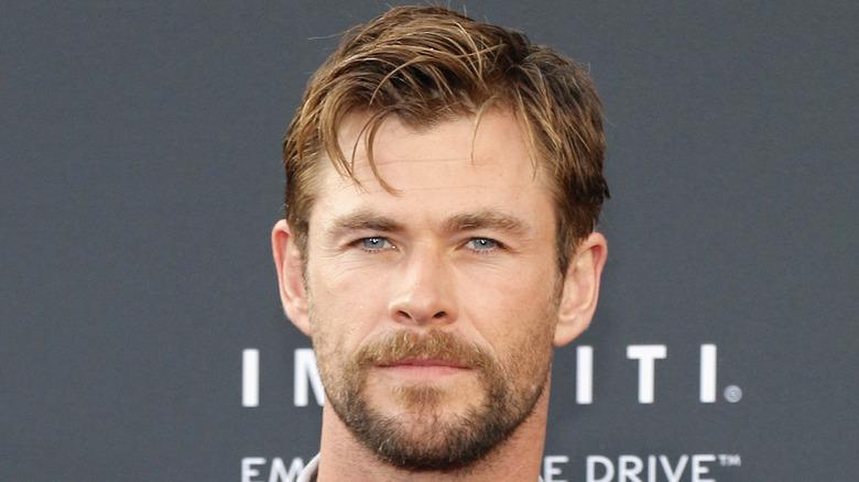 Close-up of Chris Hemsworth