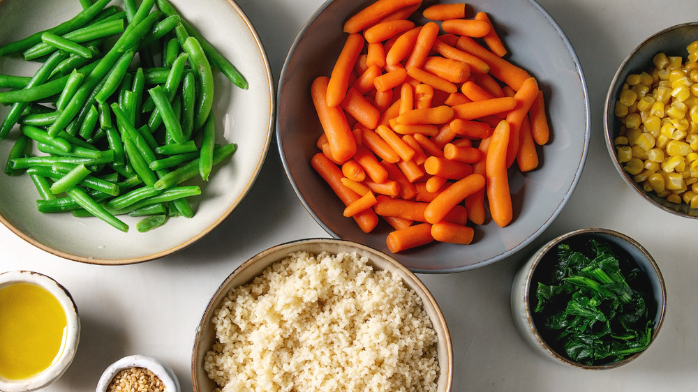 separate bowls of food
