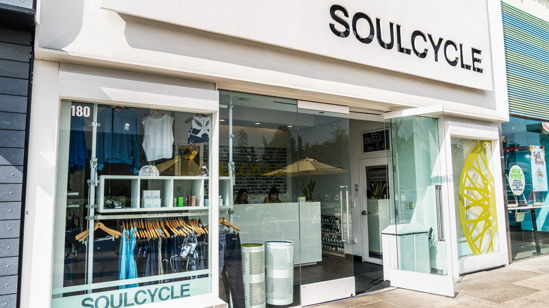 the outside façade of a SoulCycle studio