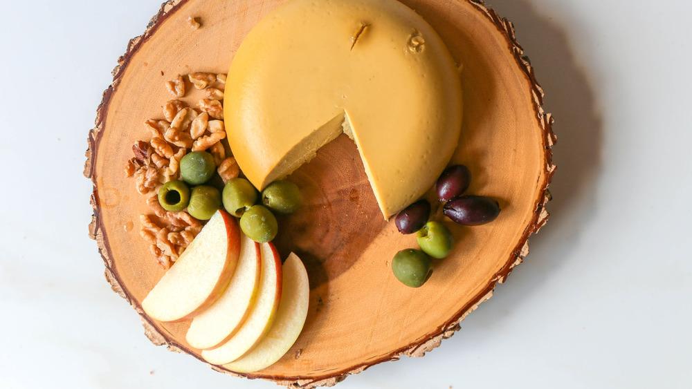 vegan cheese served