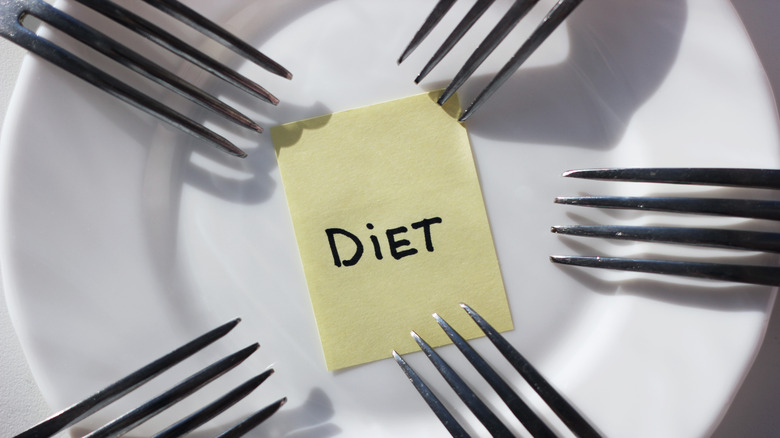 Diet post it with forks
