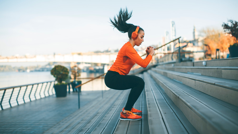 woman doing cardio