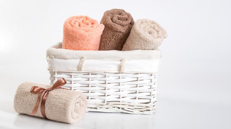 A basket of towels