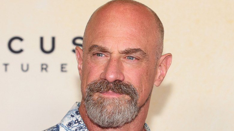 close up of actor Christopher Meloni