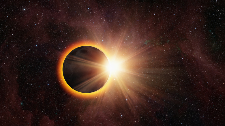 Solar eclipse viewed from Earth