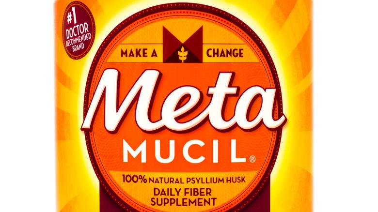 Metamucil bottle up close
