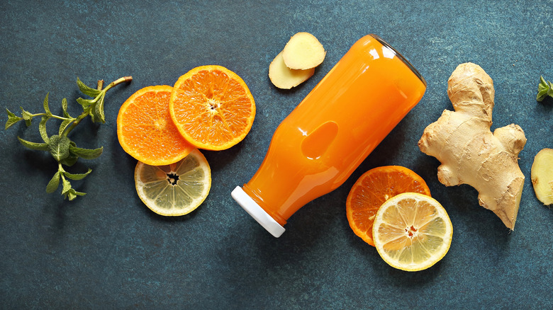 Wellness shot and ingredients