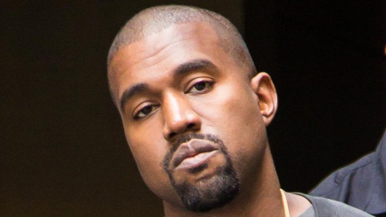 Close-up of rapper Kanye West