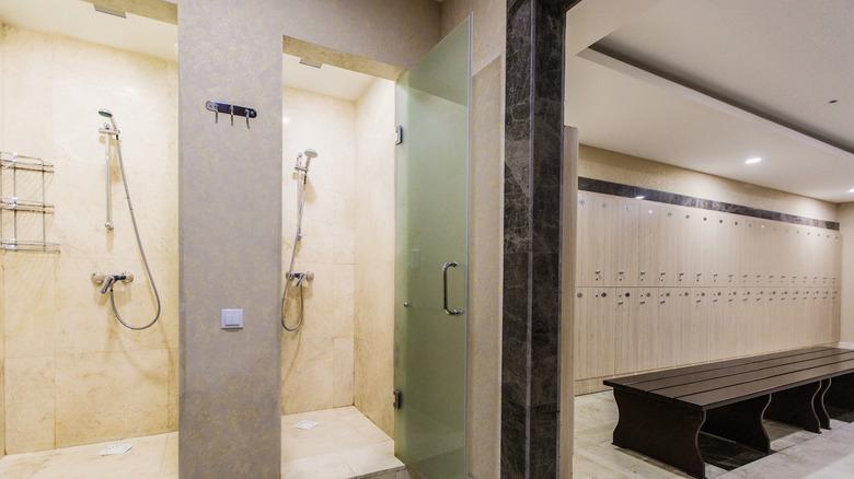 Public shower/locker room