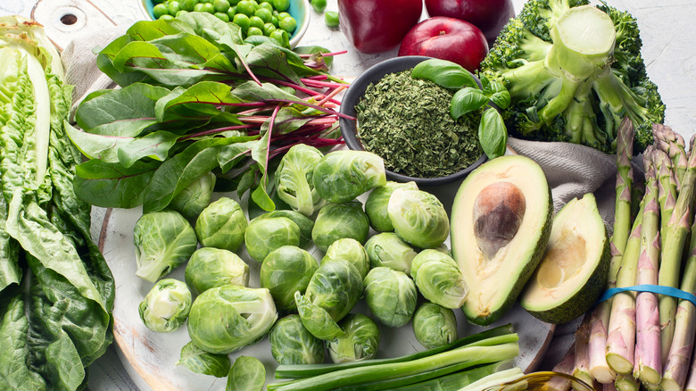 An assortment of foods rich in vitamin k