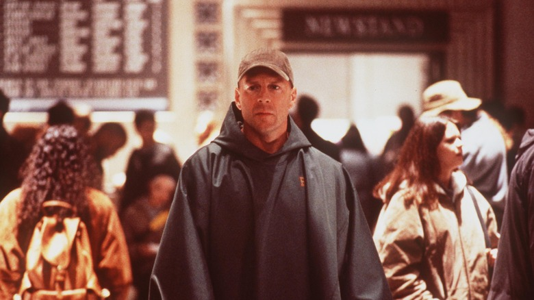 Scene from the movie Unbreakable