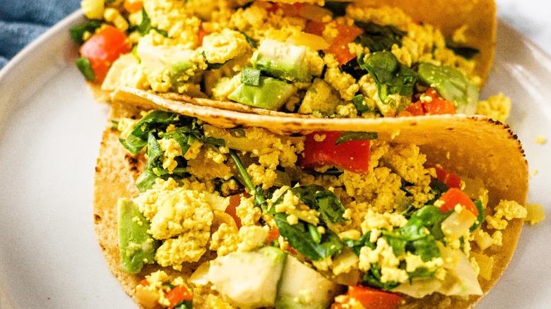 tofu tacos served