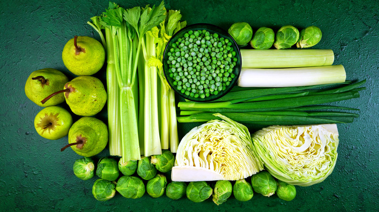 The green portion of an eliminaation diet