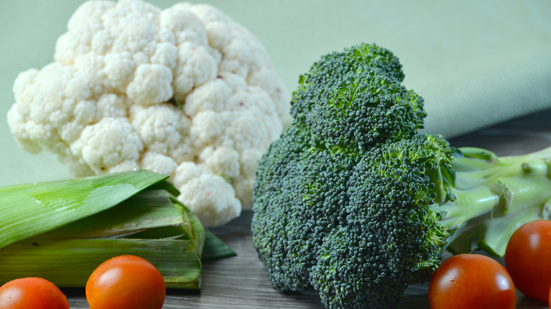 Broccoli and cauliflower stalks