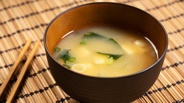 A bowl of miso soup