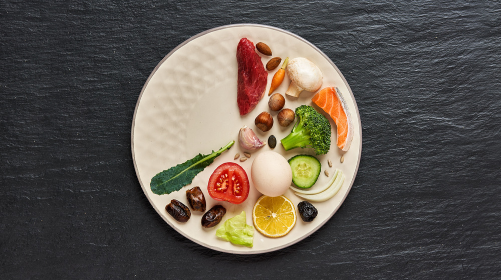 food on one-third of a plate