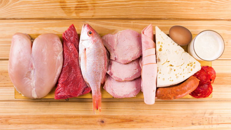 A protein-rich platter of food