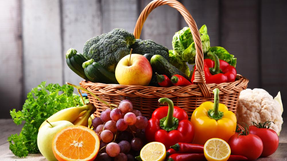basket of assorted fruits and vegetables