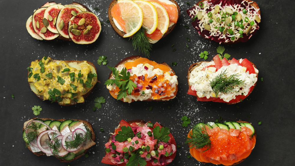 traditional Scandinavian sandwiches