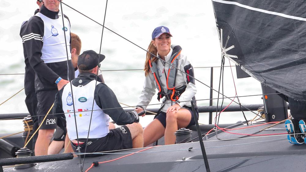 Kate Middleton sailing