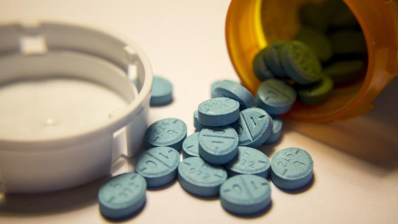 Adderall pills from a bottle