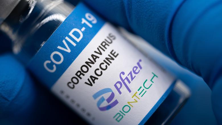 Vile of Pfizer COVID-19 vaccine