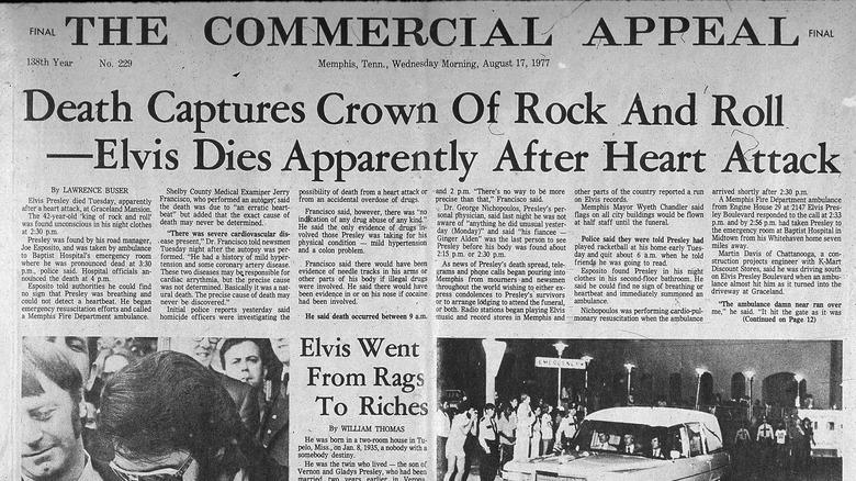 Elvis Presley's death news report