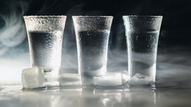shots of vodka