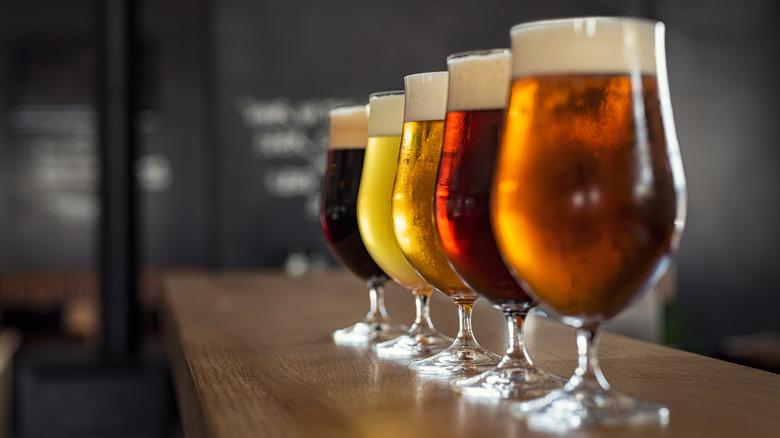 row of beers