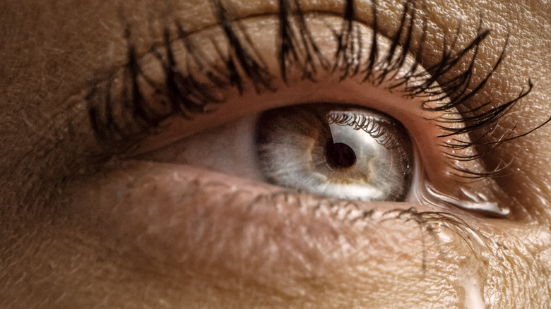 eye woman tears