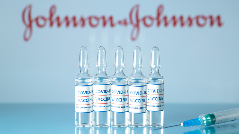COVID-19 Johnson and Johnson vaccines in glass capsules