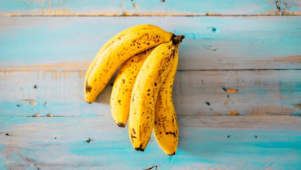 A bunch of ripe bananas