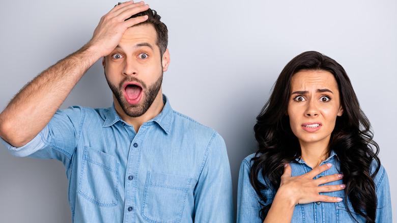 surprised couple