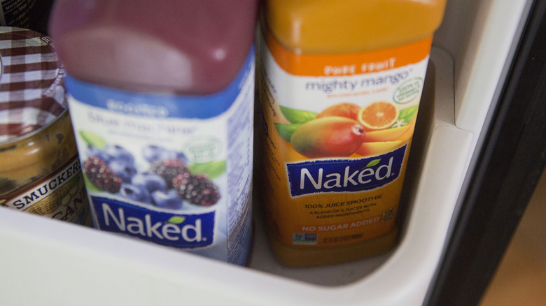 Two bottles of Naked juice