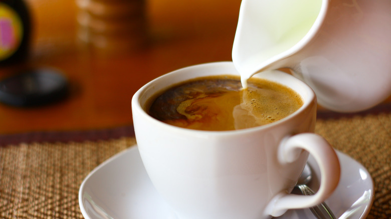 coffee and creamer