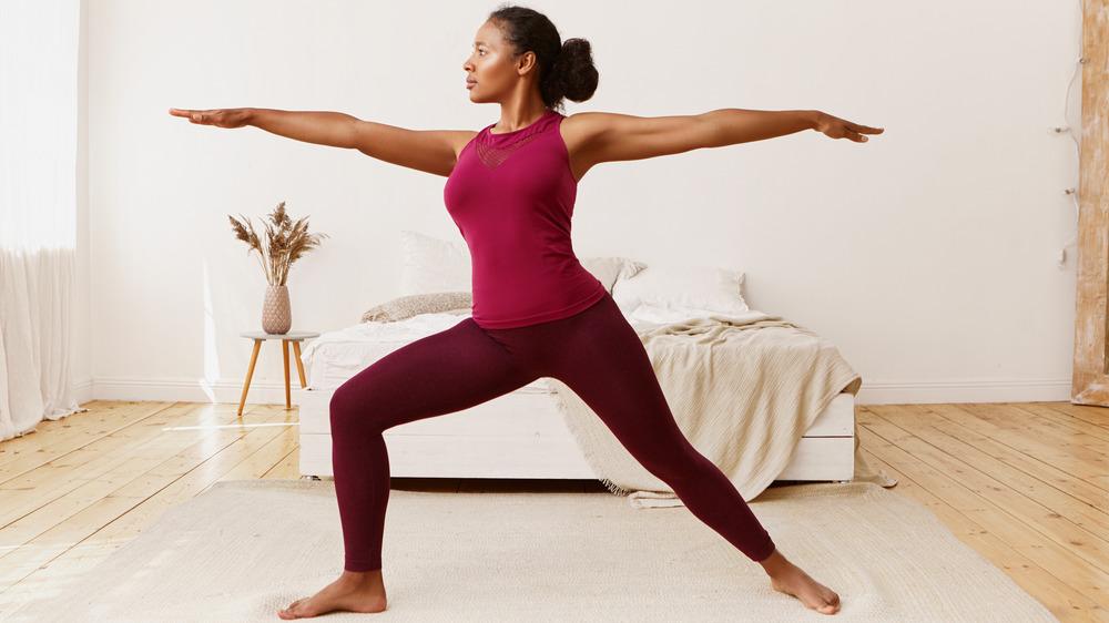 Woman at Yoga studio