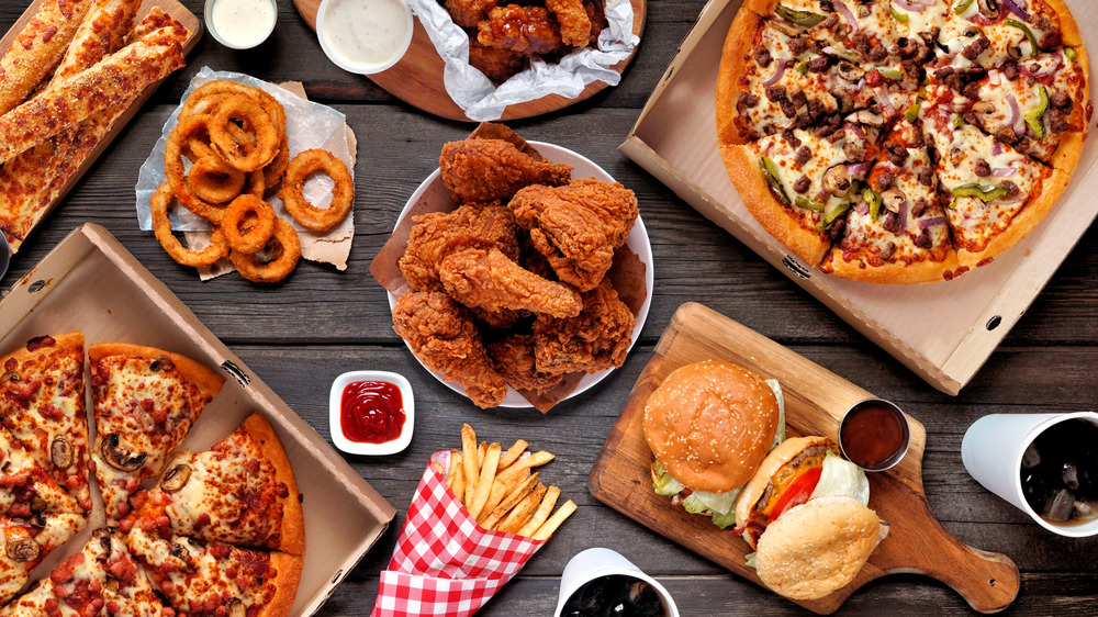 unhealthy, fried foods